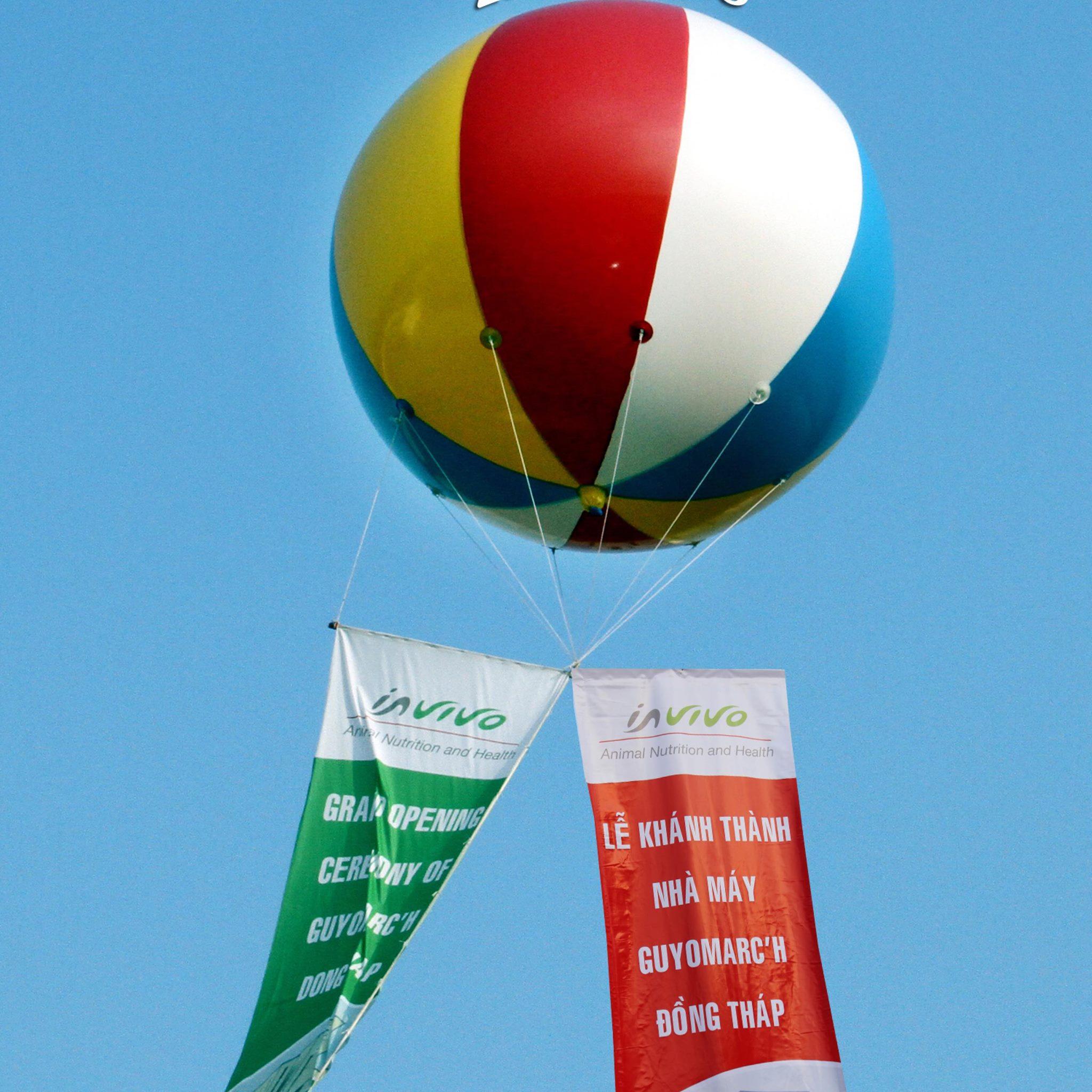 Bơm khinh khí cầu bằng khí helium | bơm kinh khí cầu giá rẻ
