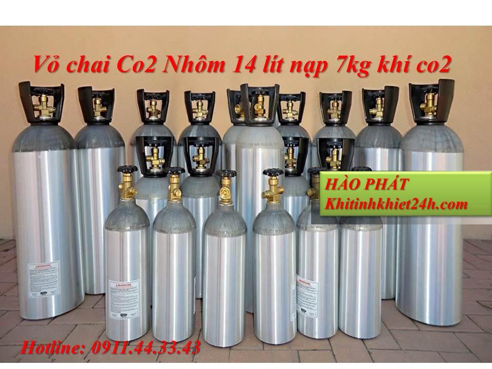 giá khí co2 hàn mig | Bình khí co2 nhôm giá rẻ